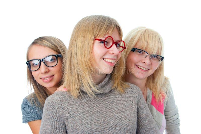 ελκυστικά κορίτσια τρία στοκ φωτογραφίες