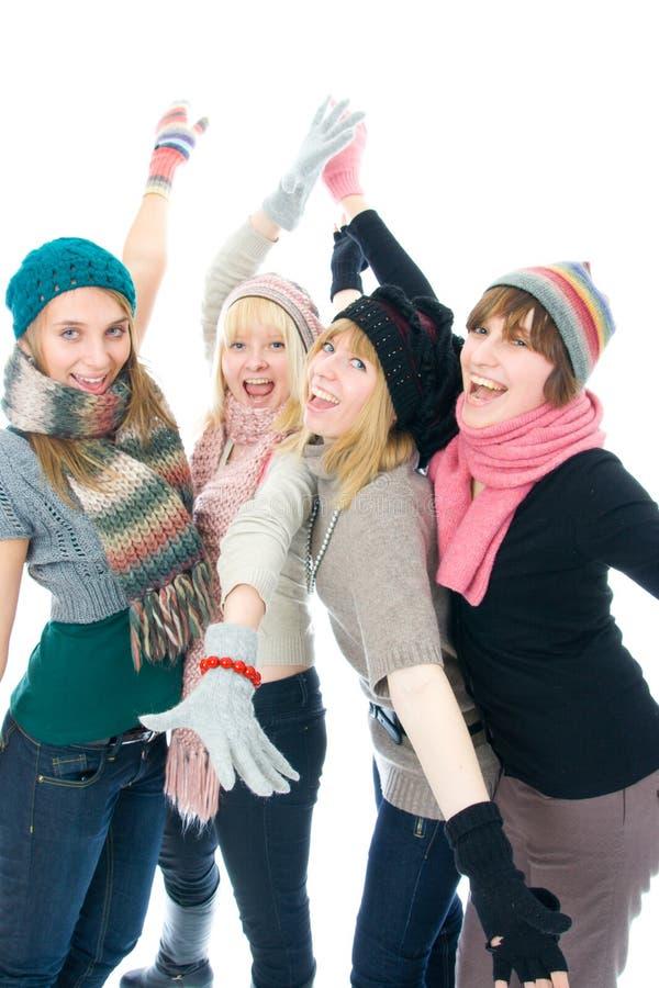 ελκυστικά τέσσερα κορίτ& στοκ εικόνα