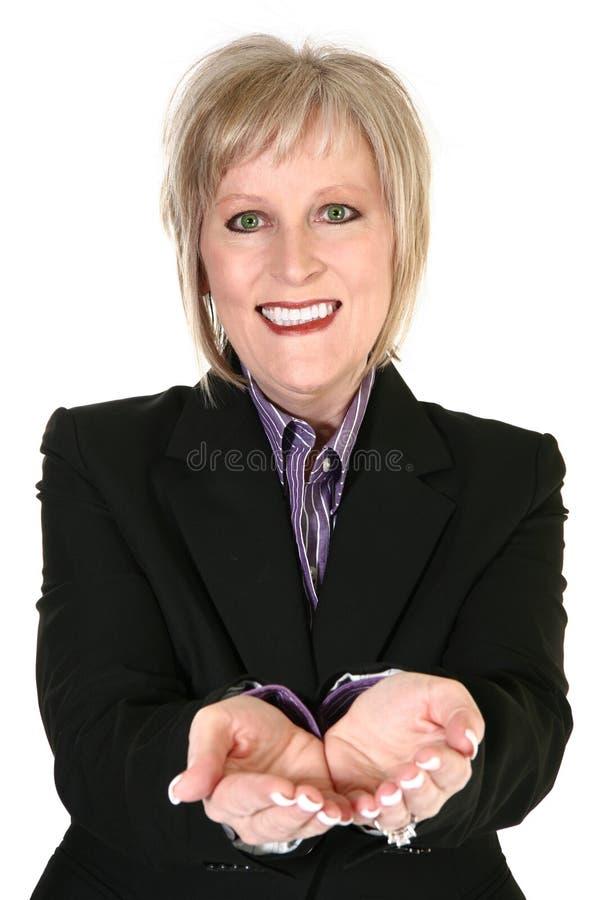 ελκυστική ξανθή γιαγιά στοκ φωτογραφία