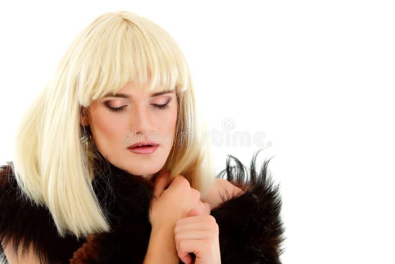 Ελκυστικό αυτή-αρσενικό ομοφυλοφίλων makeup στοκ φωτογραφίες