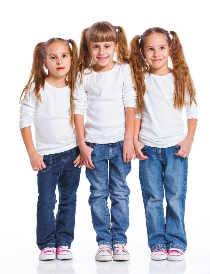 Ελκυστικό κορίτσι τρία στοκ εικόνες