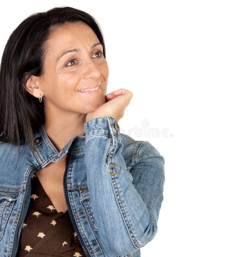 Download ελκυστικό κορίτσι brunette στοκ εικόνες. εικόνα από χέρι - 13180620
