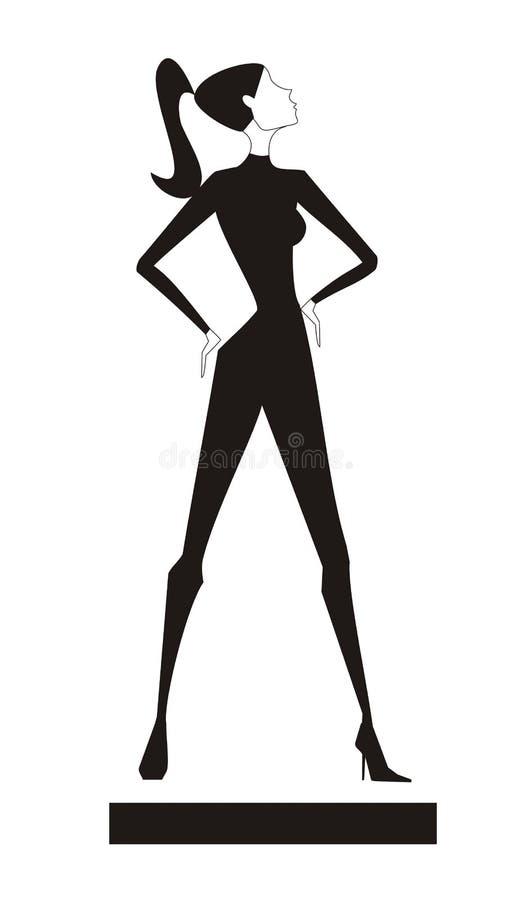 ελκυστικό μαύρο κορίτσι ελεύθερη απεικόνιση δικαιώματος