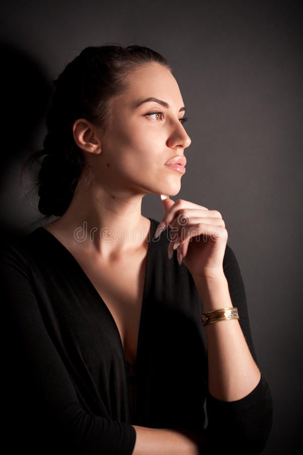 ελκυστικό μαύρο κορίτσι br στοκ φωτογραφίες με δικαίωμα ελεύθερης χρήσης