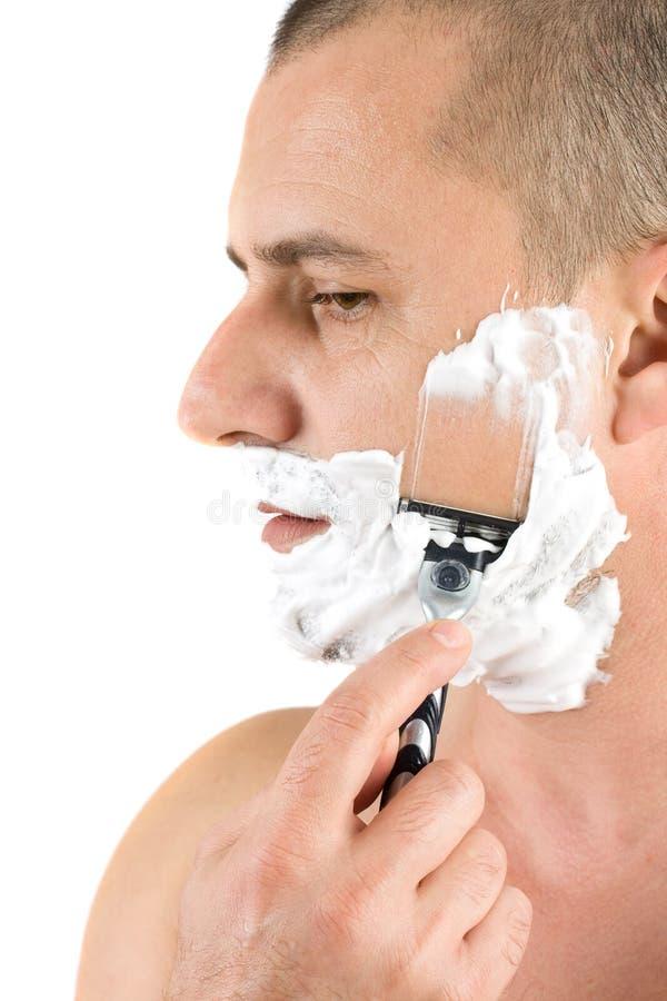 ελκυστικό ξύρισμα ατόμων στοκ εικόνα