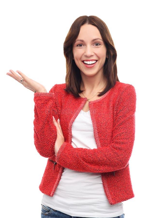 Ελκυστικό χαμόγελο γυναικών στοκ εικόνες