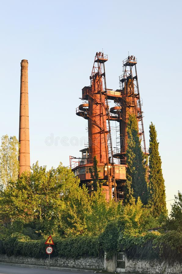 Ελλάδα, δράμα, εργοστάσιο στοκ φωτογραφία με δικαίωμα ελεύθερης χρήσης