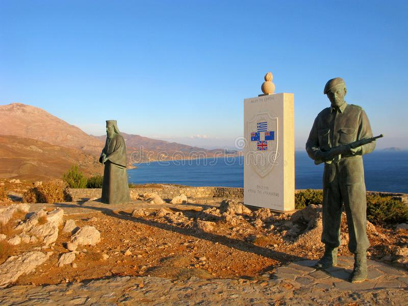 Ελλάδα, Κρήτη, αναμνηστική για την αντίσταση και την ειρήνη, WWII στοκ φωτογραφία με δικαίωμα ελεύθερης χρήσης