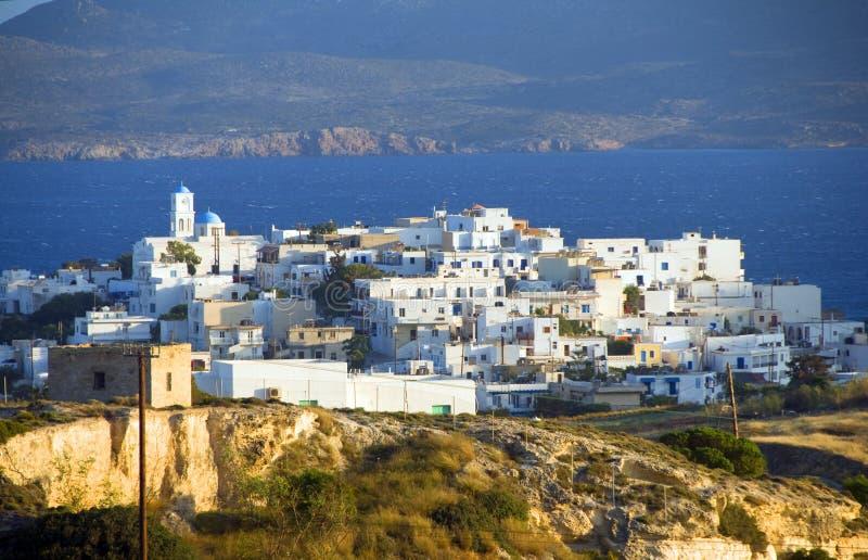 Ελληνική αρχιτεκτονική των Κυκλάδων νησιών Milos στοκ εικόνα