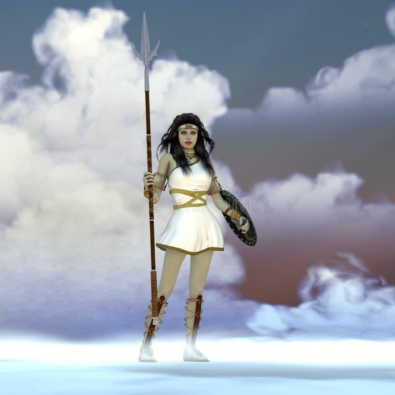Ελληνική θεά Αθηνάς στοκ εικόνα