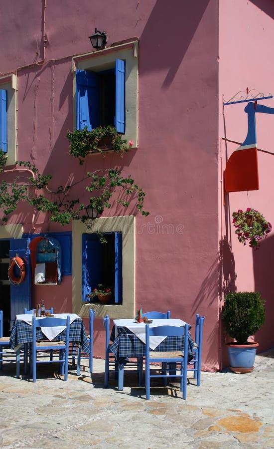 ελληνική ταβέρνα στοκ εικόνες