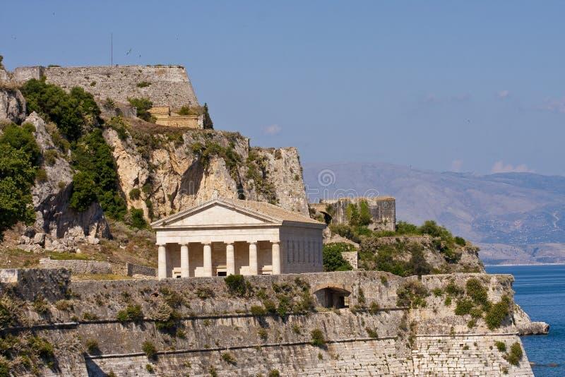 ελληνικός ναός ακτών στοκ εικόνες με δικαίωμα ελεύθερης χρήσης