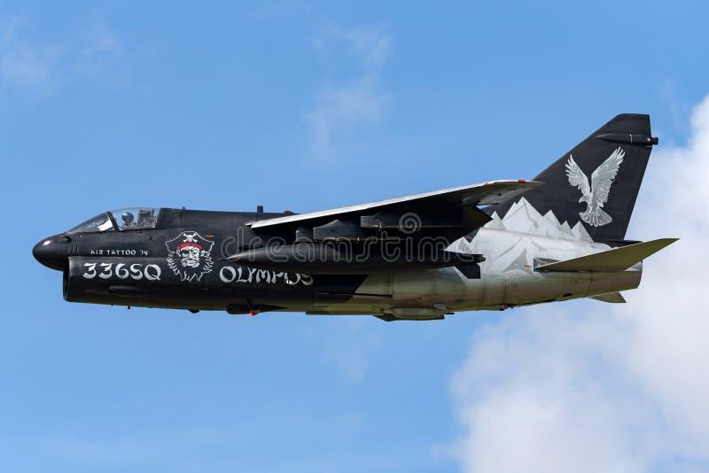 Ελληνικός πειρατής ΙΙ Πολεμικής Αεροπορίας LTV Πολεμικής Αεροπορίας ελληνικός α-7E αεροσκάφη επίθεσης στοκ εικόνες