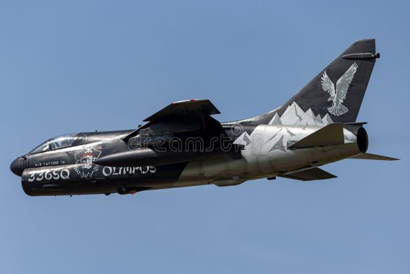 Ελληνικός πειρατής ΙΙ Πολεμικής Αεροπορίας LTV Πολεμικής Αεροπορίας ελληνικός α-7E αεροσκάφη επίθεσης στοκ φωτογραφίες