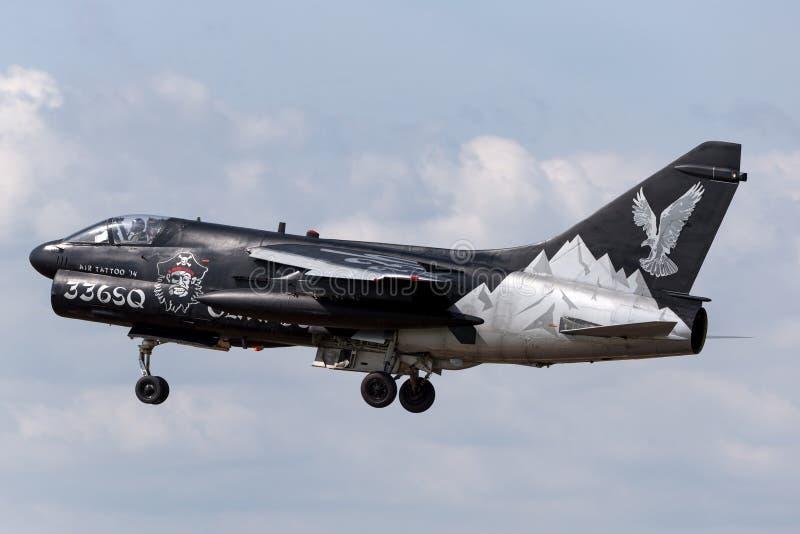 Ελληνικός πειρατής ΙΙ Πολεμικής Αεροπορίας LTV Πολεμικής Αεροπορίας ελληνικός α-7E αεροσκάφη επίθεσης στοκ φωτογραφία
