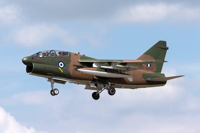 Ελληνικός πειρατής ΙΙ Πολεμικής Αεροπορίας LTV Πολεμικής Αεροπορίας ελληνικός TA-7C αεροσκάφη επίθεσης στοκ εικόνα με δικαίωμα ελεύθερης χρήσης