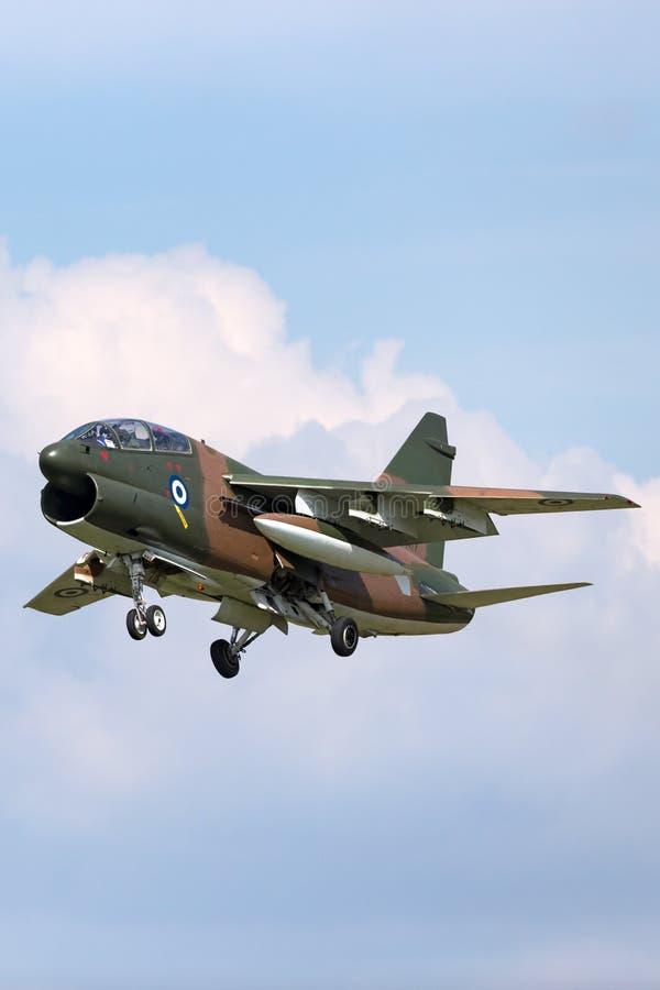 Ελληνικός πειρατής ΙΙ Πολεμικής Αεροπορίας LTV Πολεμικής Αεροπορίας ελληνικός TA-7C αεροσκάφη επίθεσης στοκ εικόνες με δικαίωμα ελεύθερης χρήσης