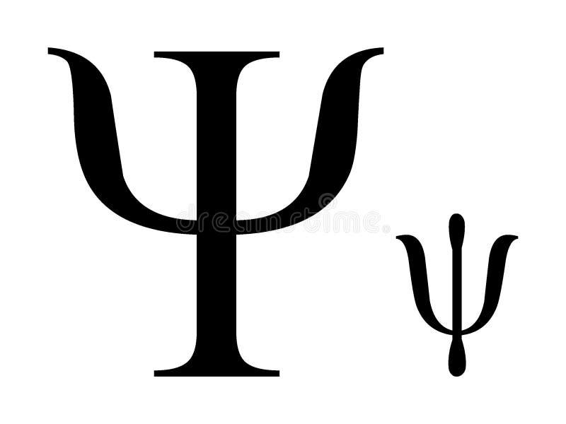 Ελληνικό γράμμα PSI αλφάβητου απεικόνιση αποθεμάτων