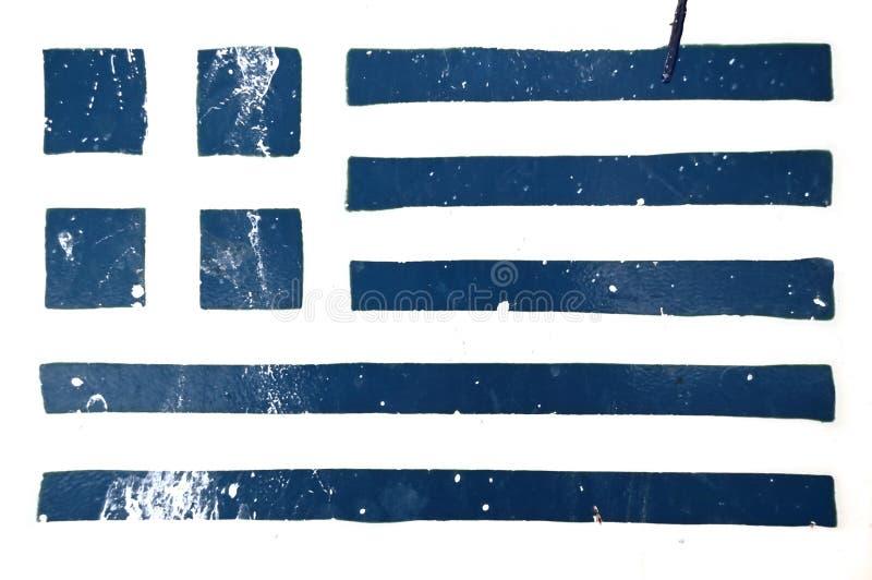 ελληνικό διάτρητο grunge σημαιών στοκ εικόνα με δικαίωμα ελεύθερης χρήσης