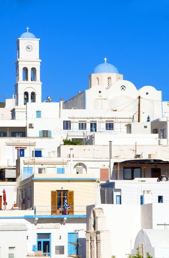 ελληνικό λευκό milos νησιών αρχιτεκτονικής adamas στοκ φωτογραφίες