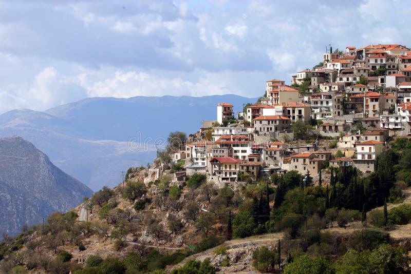 ελληνικό ορεινό χωριό στοκ εικόνες με δικαίωμα ελεύθερης χρήσης