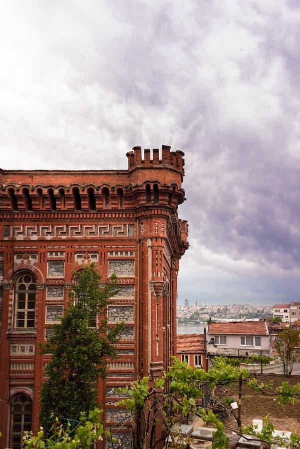 Ελληνικό ορθόδοξο κολλέγιο Phanar γνωστό στα ελληνικά ως μεγάλο σχολείο στοκ εικόνα