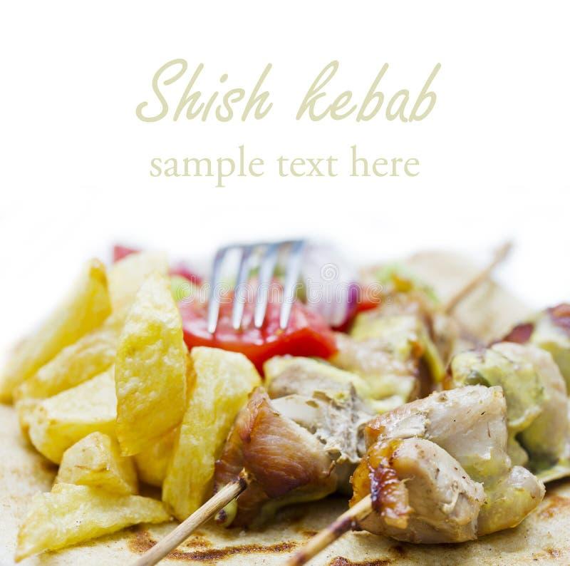 ελληνικό souvlaki kebab shish στοκ φωτογραφία