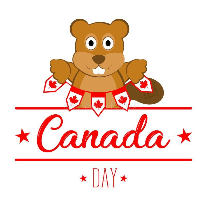 Εμβλήματα εκμετάλλευσης καστόρων εικονίδια ημέρας του Καναδά κουμπιών που τίθενται ελεύθερη απεικόνιση δικαιώματος