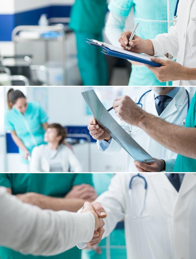 Εμβλήματα επαγγελματιών υγειονομικής περίθαλψης καθορισμένα στοκ φωτογραφία με δικαίωμα ελεύθερης χρήσης