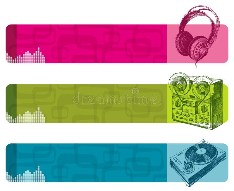 εμβλήματα μουσικά διανυσματική απεικόνιση