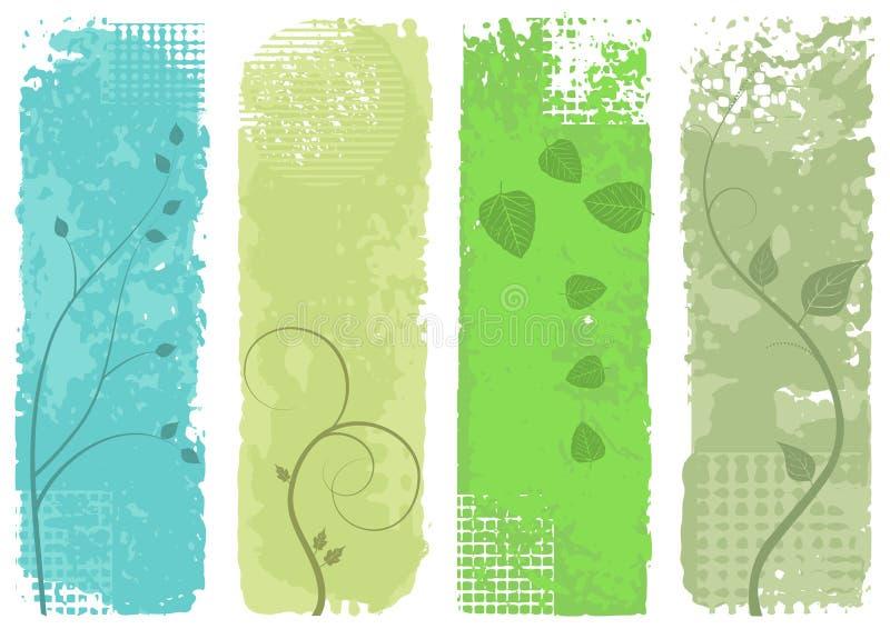 εμβλήματα τέσσερα καθορισμένο διάνυσμα διανυσματική απεικόνιση