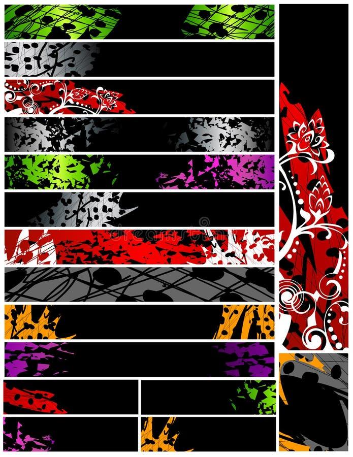 εμβλήματα grunge δέκα έξι διανυσματική απεικόνιση