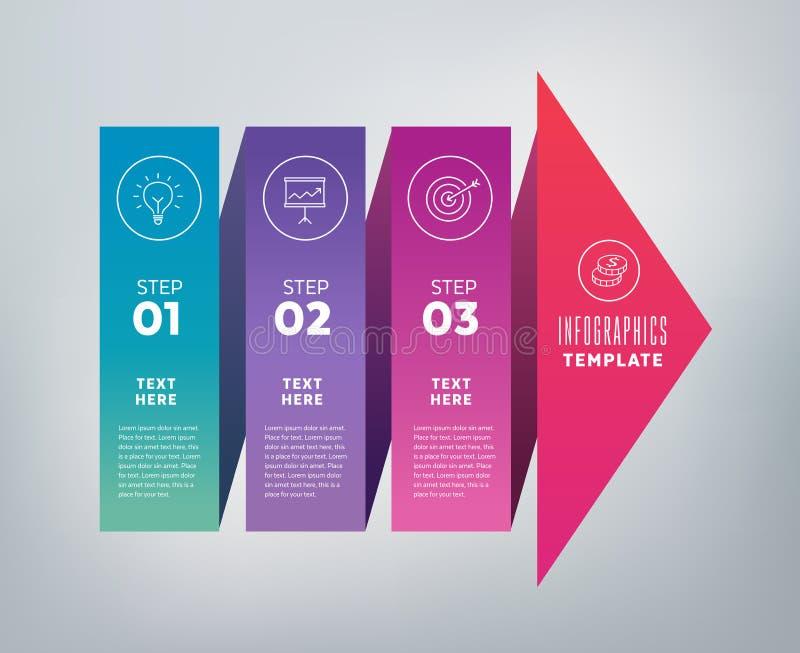 Εμβλήματα Infographics - βήματα στην επιτυχία διανυσματική απεικόνιση