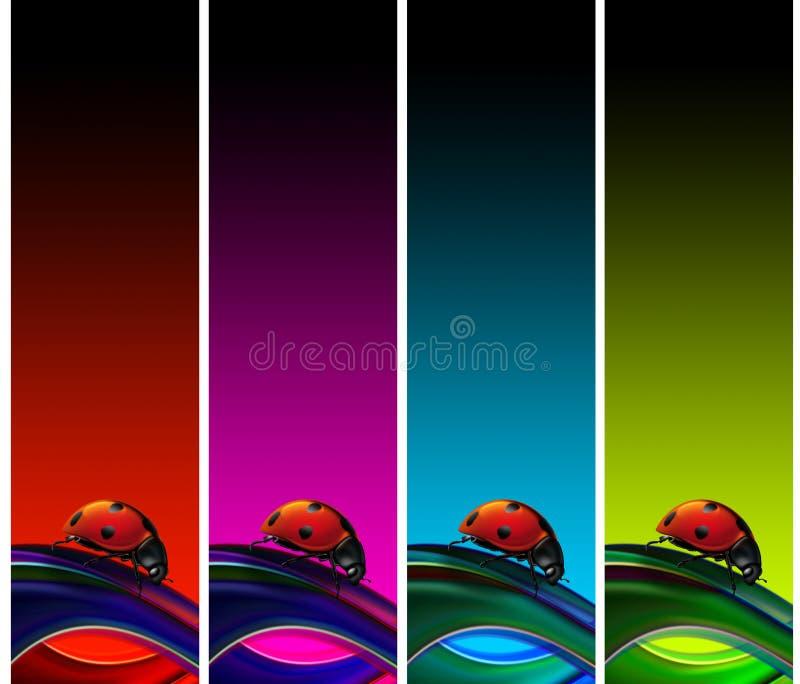 εμβλήματα ladybugs απεικόνιση αποθεμάτων