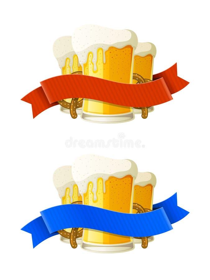 Εμβλήματα Oktoberfest ελεύθερη απεικόνιση δικαιώματος