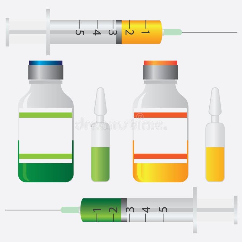 Εμβολιασμός. απεικόνιση αποθεμάτων