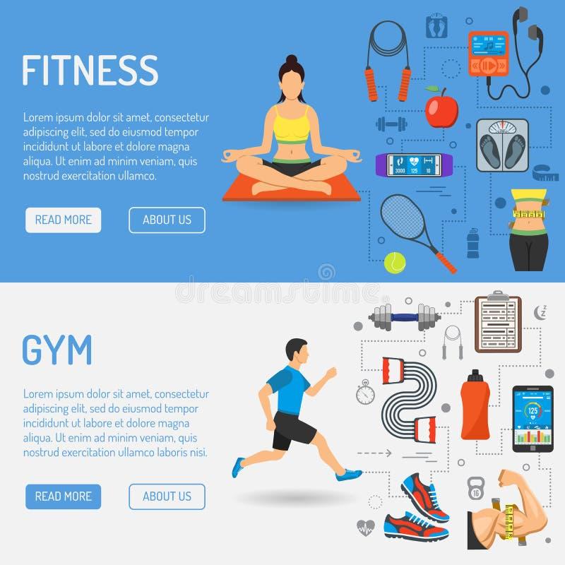 Εμβλήματα ικανότητας και γυμναστικής απεικόνιση αποθεμάτων