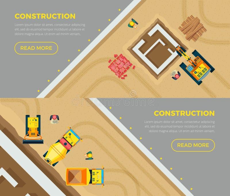 Εμβλήματα κατασκευής καθορισμένα απεικόνιση αποθεμάτων
