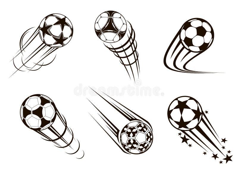 Εμβλήματα ποδοσφαίρου και ποδοσφαίρου ελεύθερη απεικόνιση δικαιώματος