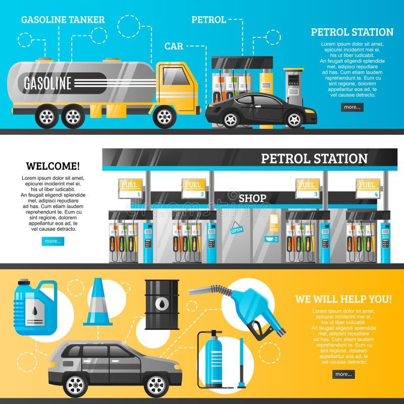 Εμβλήματα πρατηρίων καυσίμων διανυσματική απεικόνιση