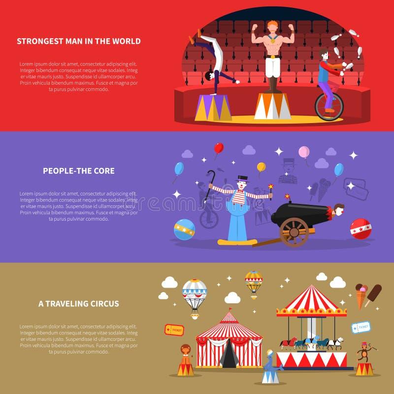 Εμβλήματα τσίρκων καθορισμένα απεικόνιση αποθεμάτων