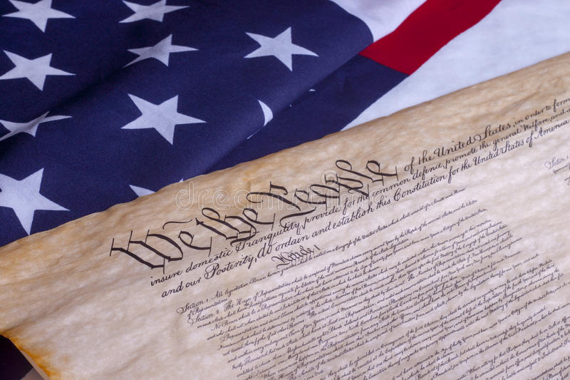 Εμείς το αμερικανικό σύνταγμα ανθρώπων στοκ φωτογραφία με δικαίωμα ελεύθερης χρήσης