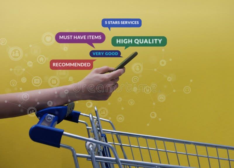 Εμπειρία και αγορές LifestyleConcept πελατών Έξυπνος πελάτης στοκ φωτογραφία