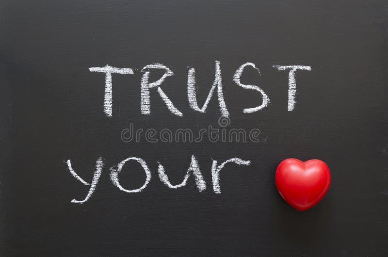 Εμπιστευθείτε την καρδιά σας στοκ φωτογραφία