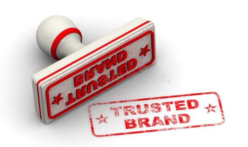 Εμπιστευμένο εμπορικό σήμα Σφραγίδα και σφραγίδα ελεύθερη απεικόνιση δικαιώματος