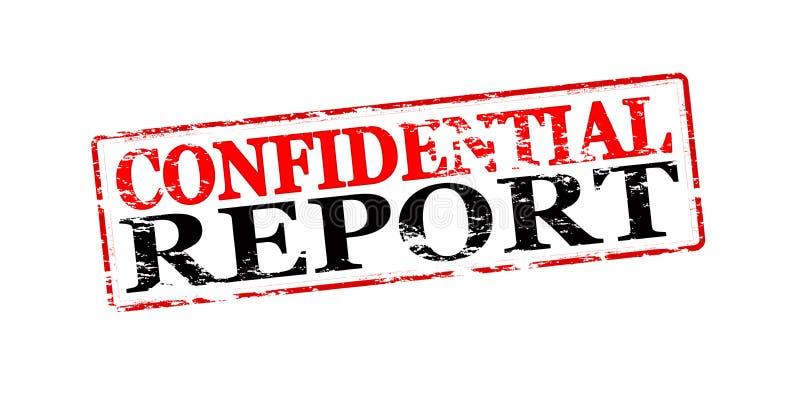 Εμπιστευτική έκθεση απεικόνιση αποθεμάτων