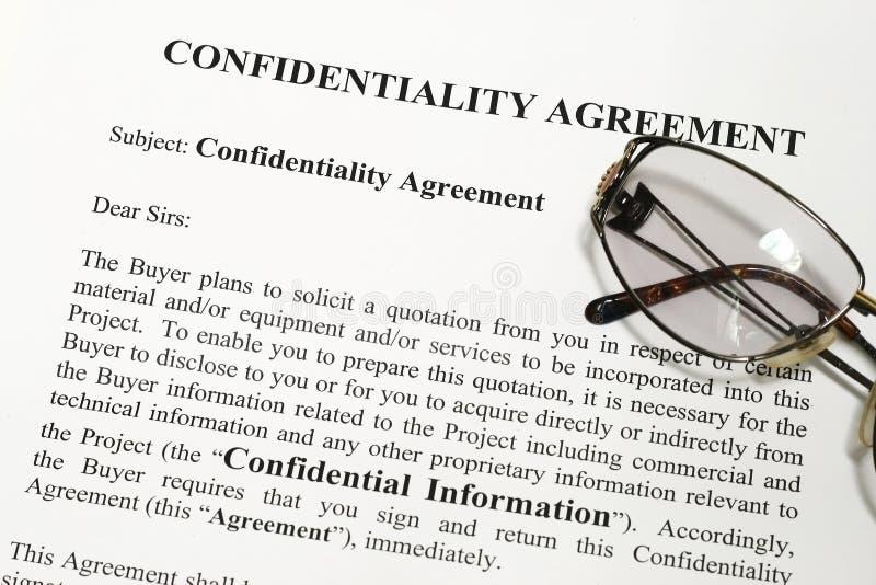 εμπιστευτικότητα συμφωνίας στοκ εικόνες