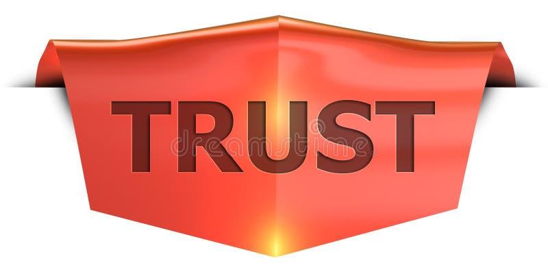 Εμπιστοσύνη εμβλημάτων διανυσματική απεικόνιση