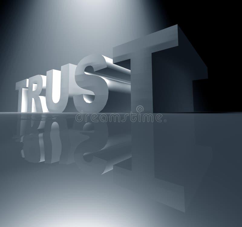 εμπιστοσύνη διανυσματική απεικόνιση