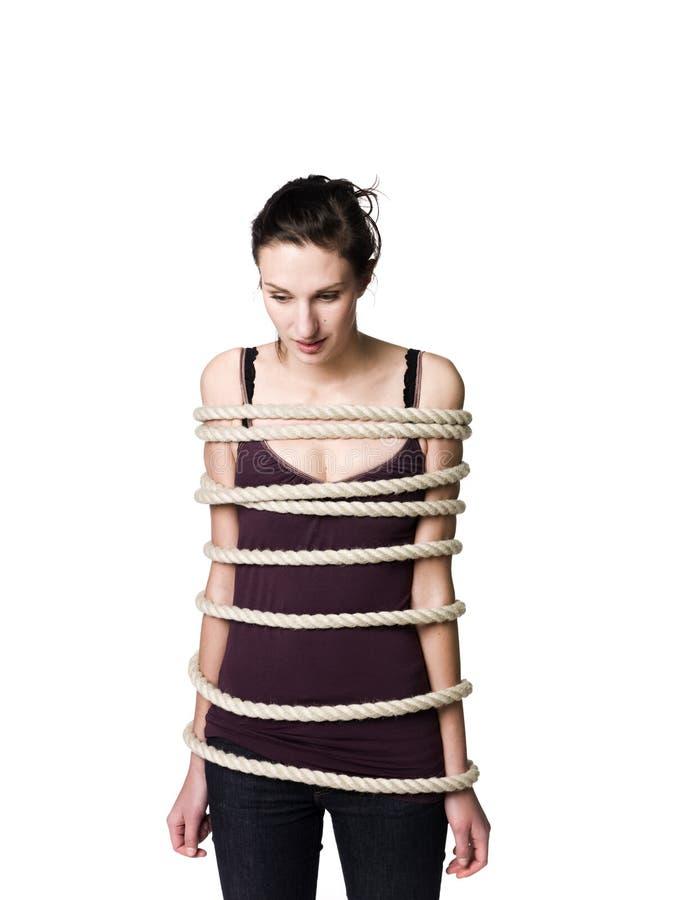 εμπλεγμένη γυναίκα στοκ εικόνες με δικαίωμα ελεύθερης χρήσης